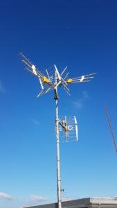 Anténní systém DVB-T/T2 pro 3 směry příjmu