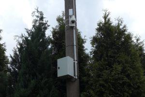 DOME IP kamera s WiFi pojítkem na sloupu osvětlení